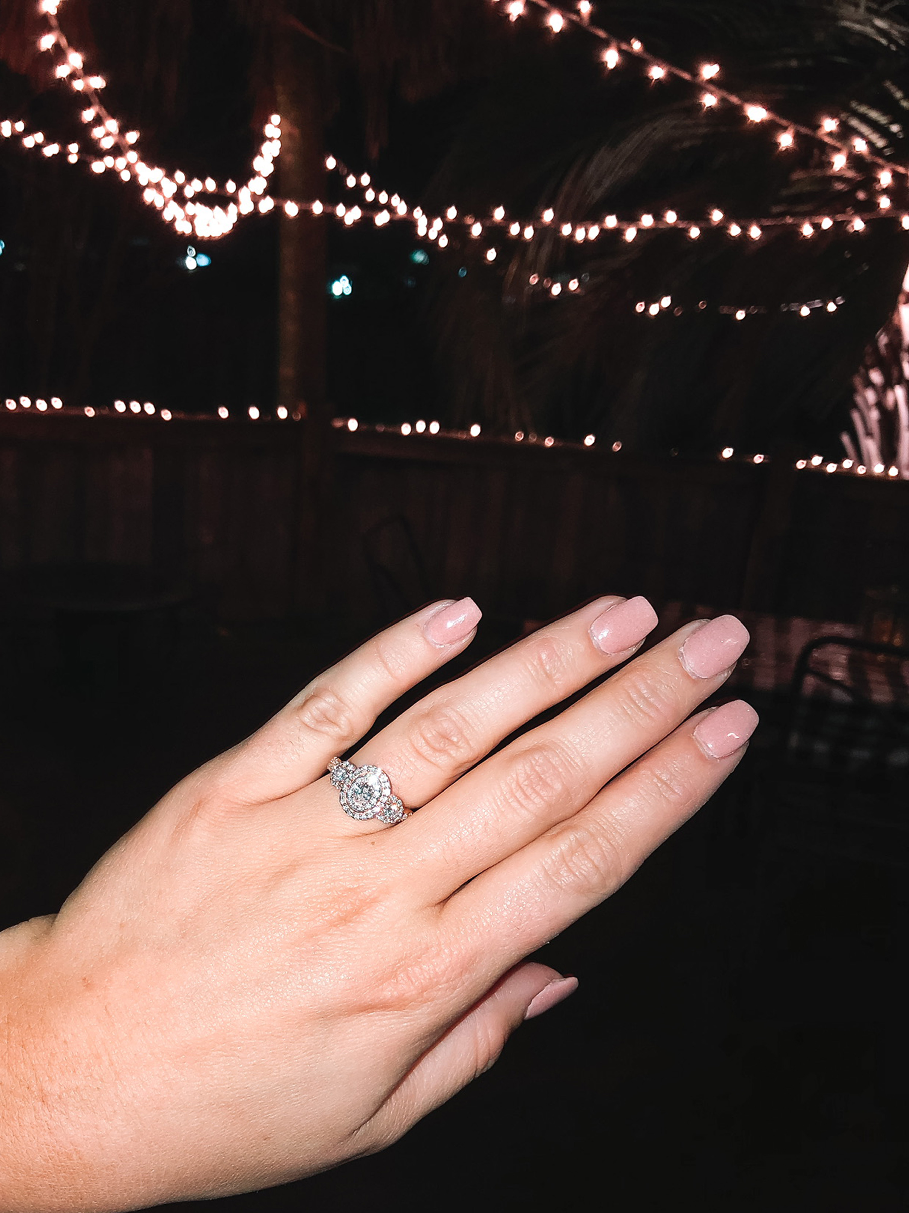 Couple who faked engagement show off real ring