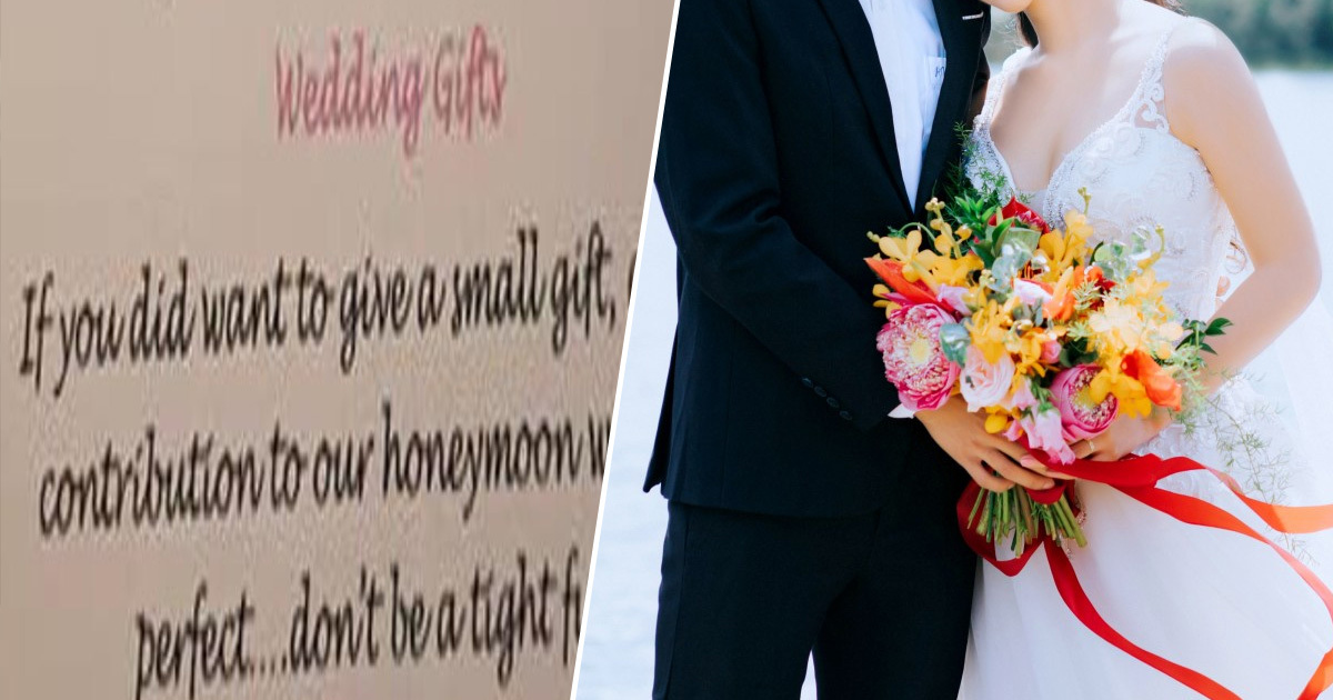 Couple Slammed For Calling Guests 'Tight F*cks' In Wedding Invitations