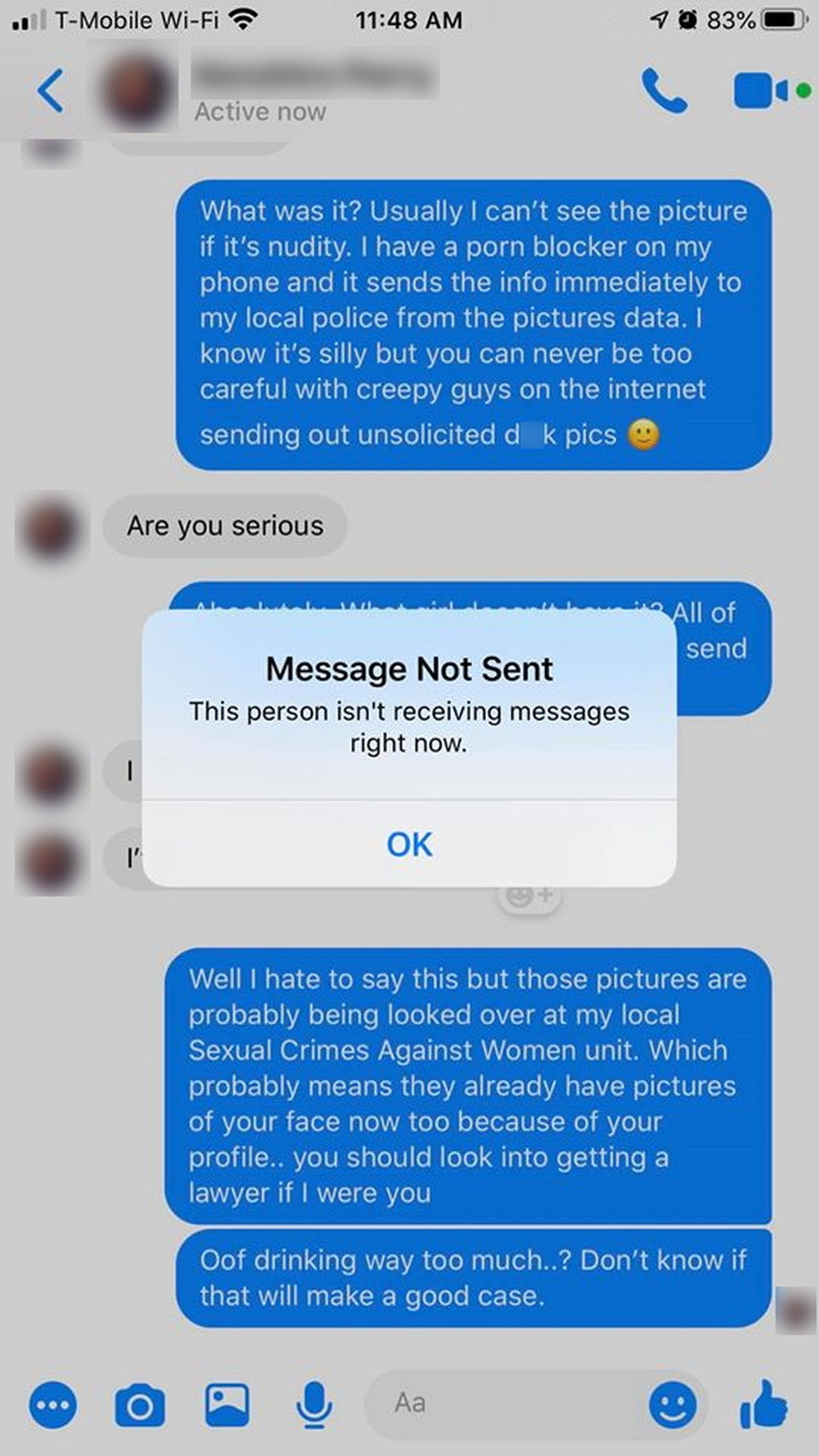 Woman Pranks Guy Who Sent Unsolicited Dick Pics With Automatic Forwarding To Cops