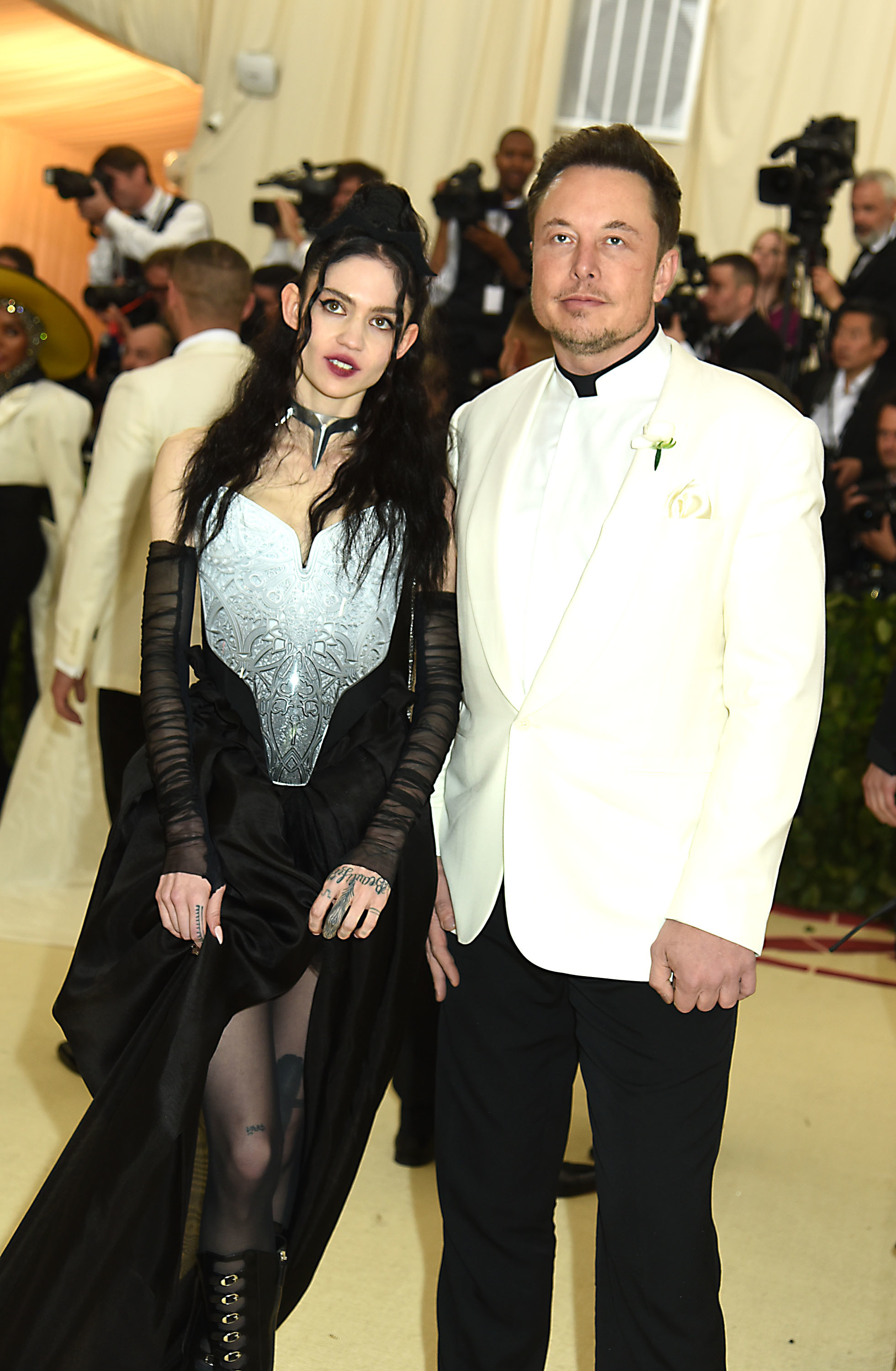 Elon Musk and Claire Elise Boucher aka Grimes
