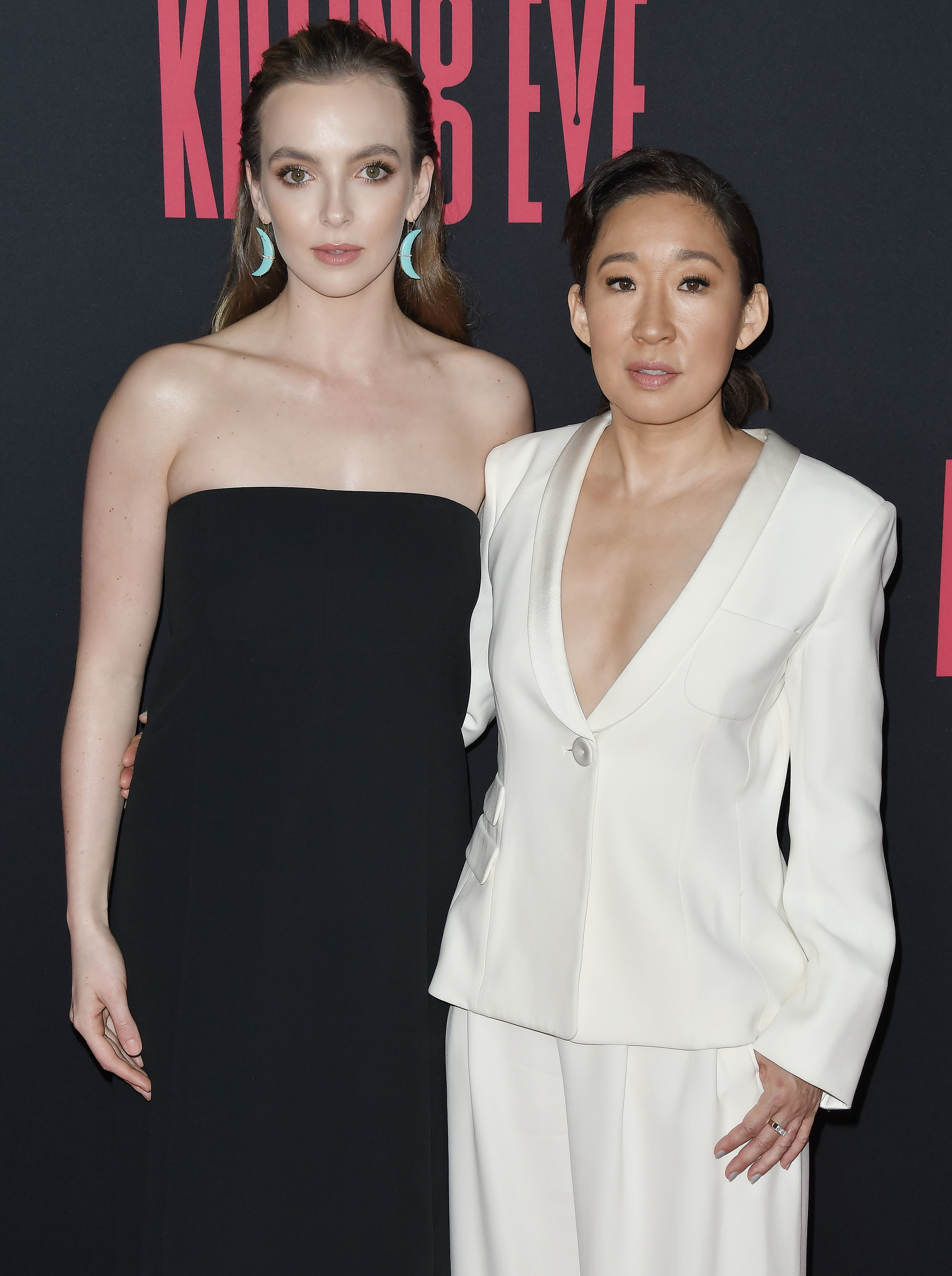 Jodie Comer and Sandra Oh