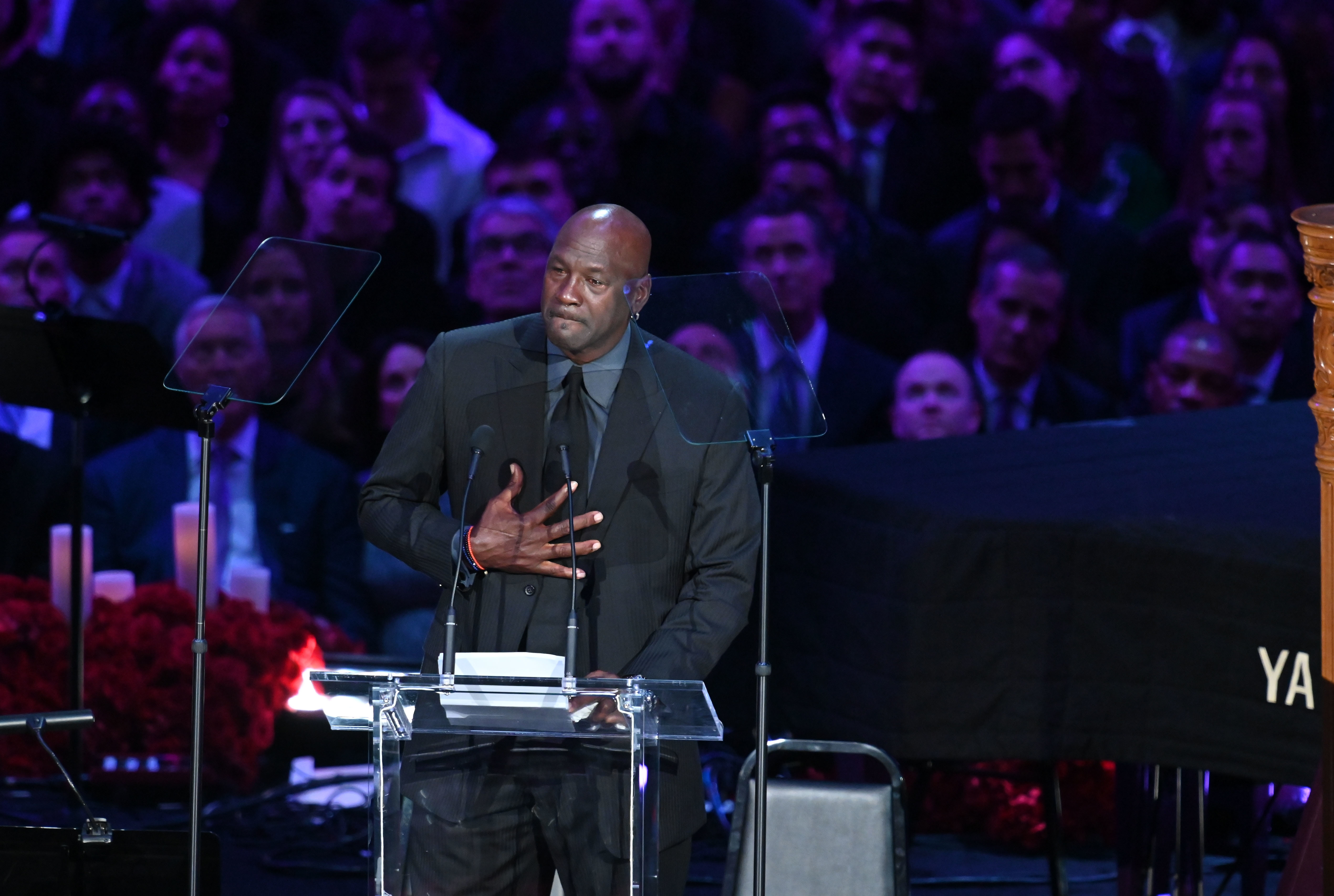 Michael Jordan Breaks Down In Tears Paying Tribute To 'Little Brother' Kobe Bryant