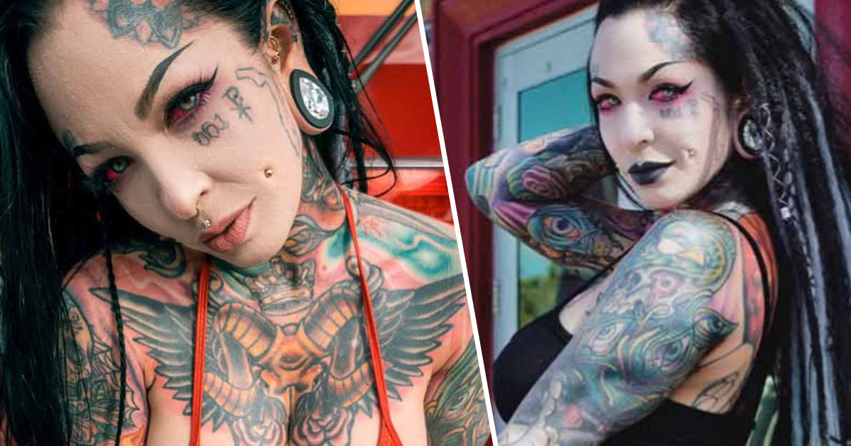 Florida Woman Inked Head-To-Toe Gets Called Walking 'Comic Book' By Her Dad
