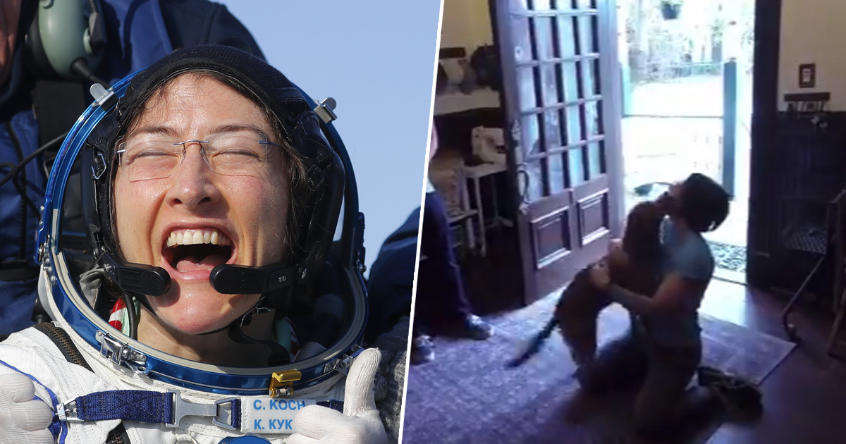 Record-Breaking Astronaut Christina Koch Reunites With Dog After 328 Days In Space