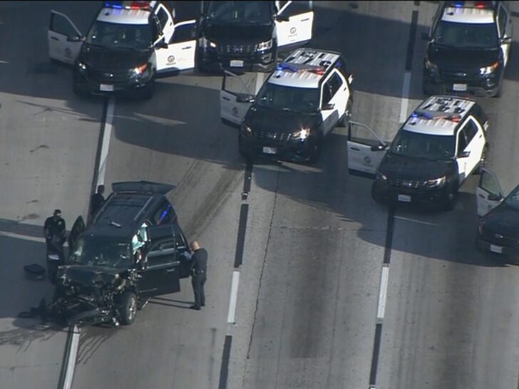 Stolen Hearse With Body Inside It Crashes On Freeway