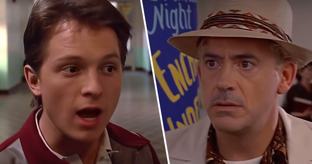 Back To The Future Deepfaked With Tom Holland And Robert Downey Jr.