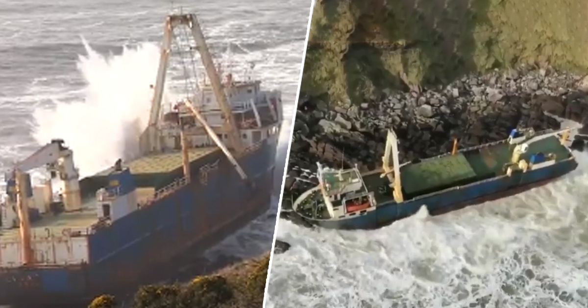 Long Lost 'Ghost Ship' Washes Up On Coast Of Ireland After Storm
