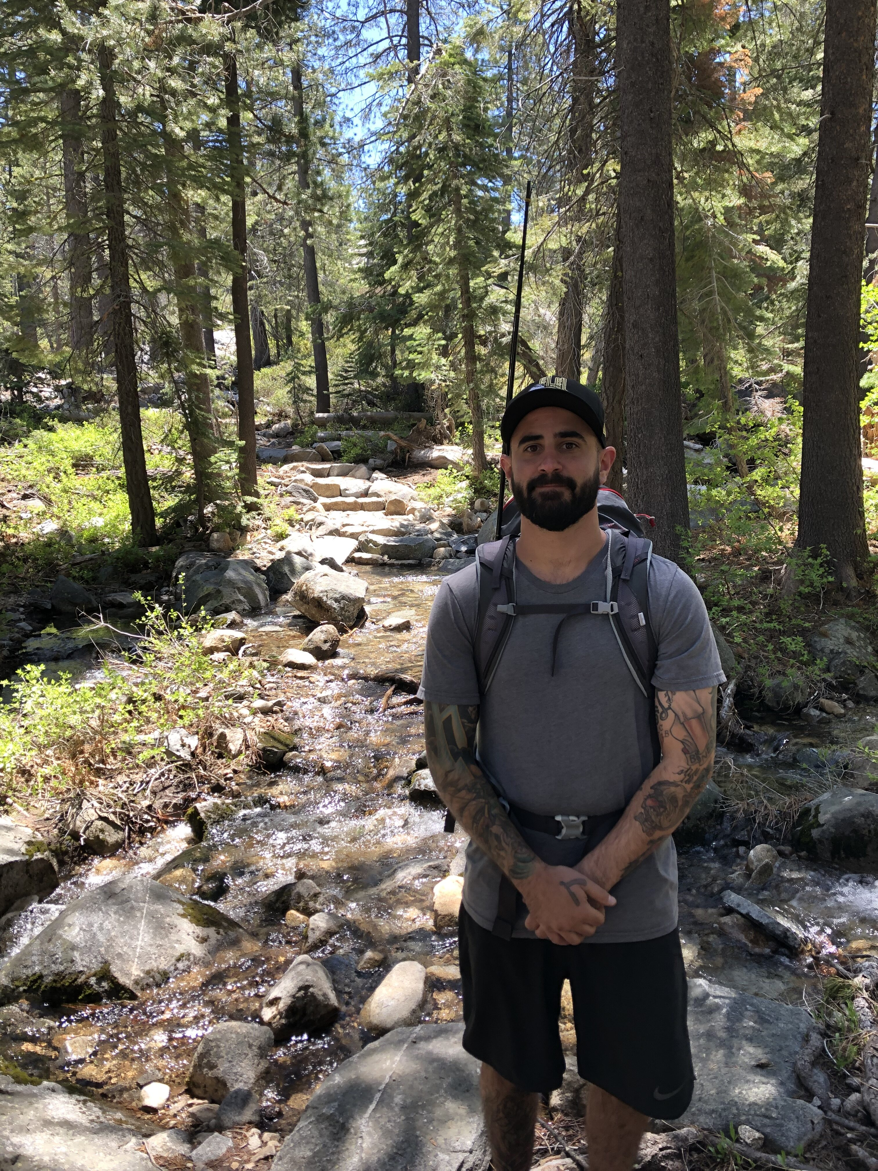 Alex Tillisch on hike just before two years sober