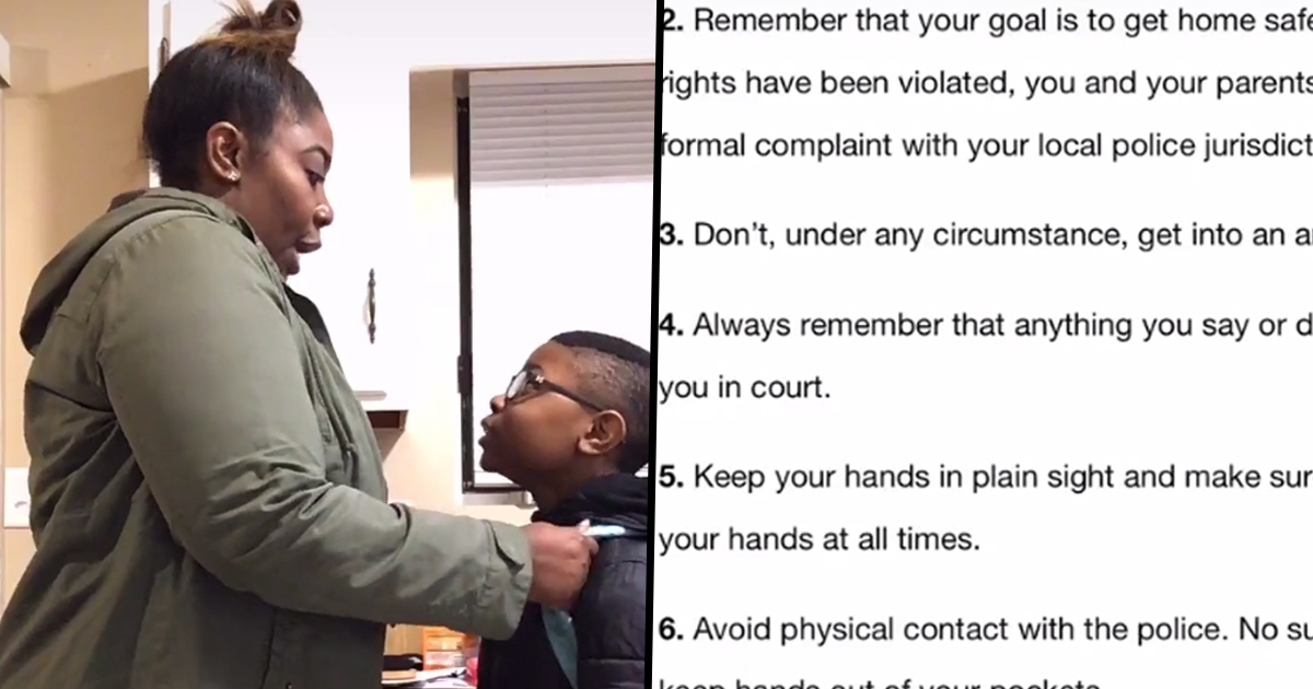 Georgia Mum Teaching Child 10 Rules On 'How To Be Black In America' Is Heartbreaking