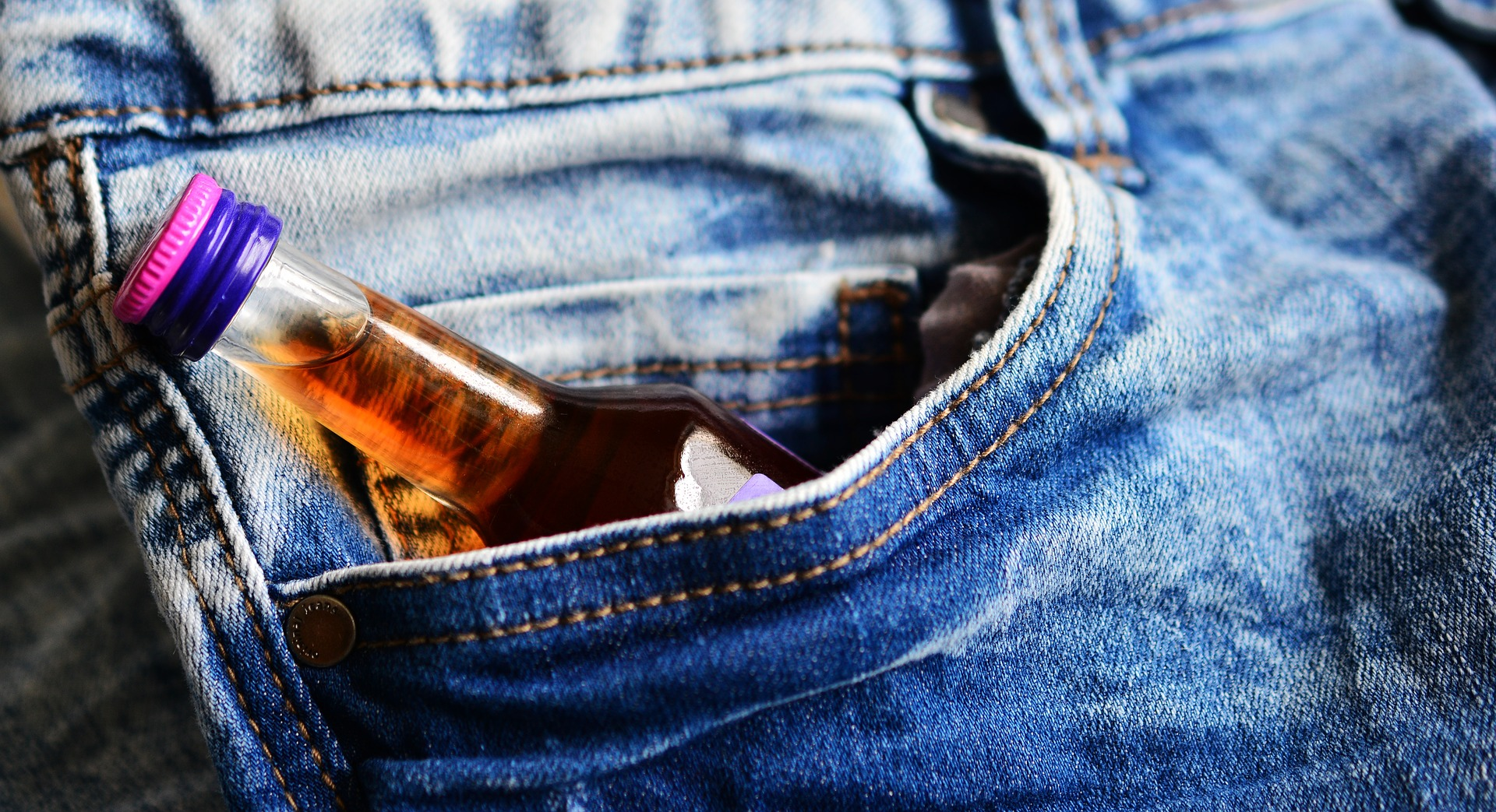 Alcohol in pocket