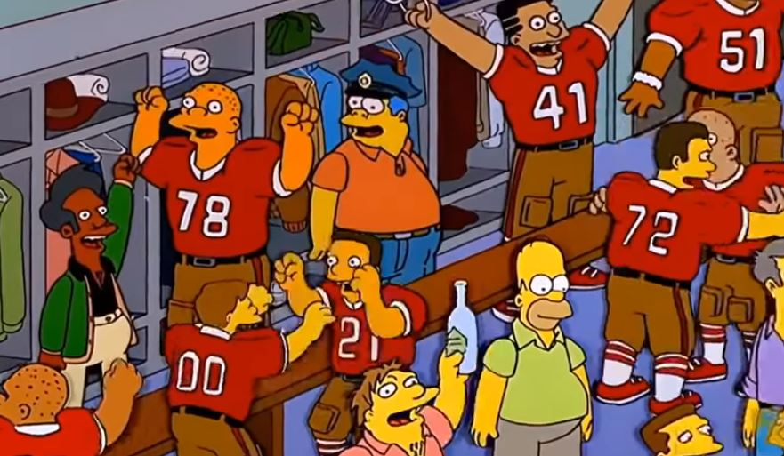 The Simpsons wrong about Super Bowl winner