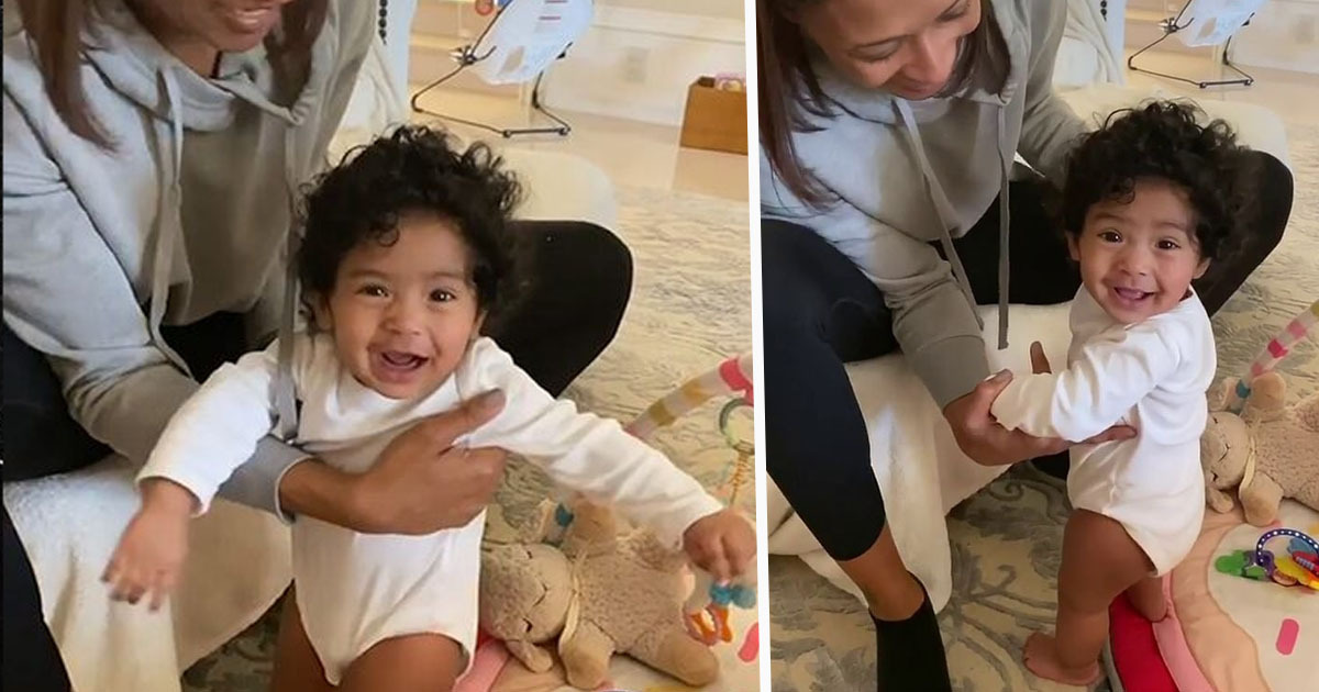 vanessa bryant shares adorable video of baby walking 1