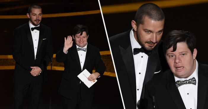 Zack Gottsagen Made History As The Oscar's First Presenter With Down's Syndrome With Shia LaBeouf