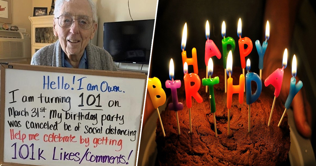 100-Year-Old Man Asks For 101,000 Likes On Twitter After His Birthday Party Was Cancelled