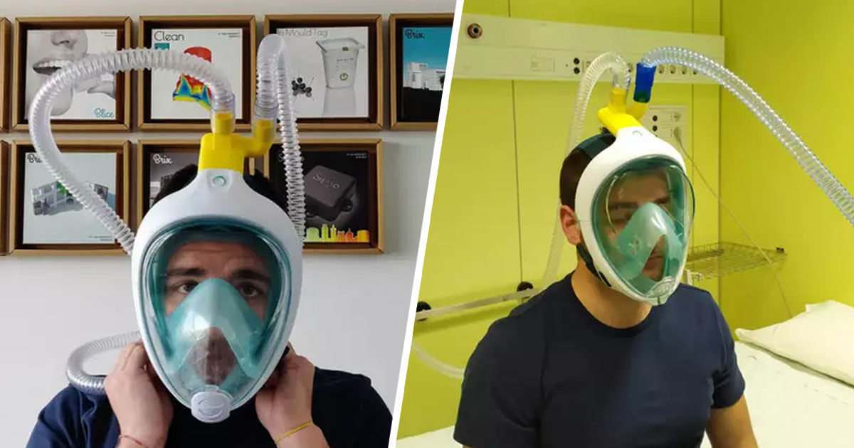 Italian Engineers Create Ventilators Using Snorkelling Masks To Tackle Coronavirus
