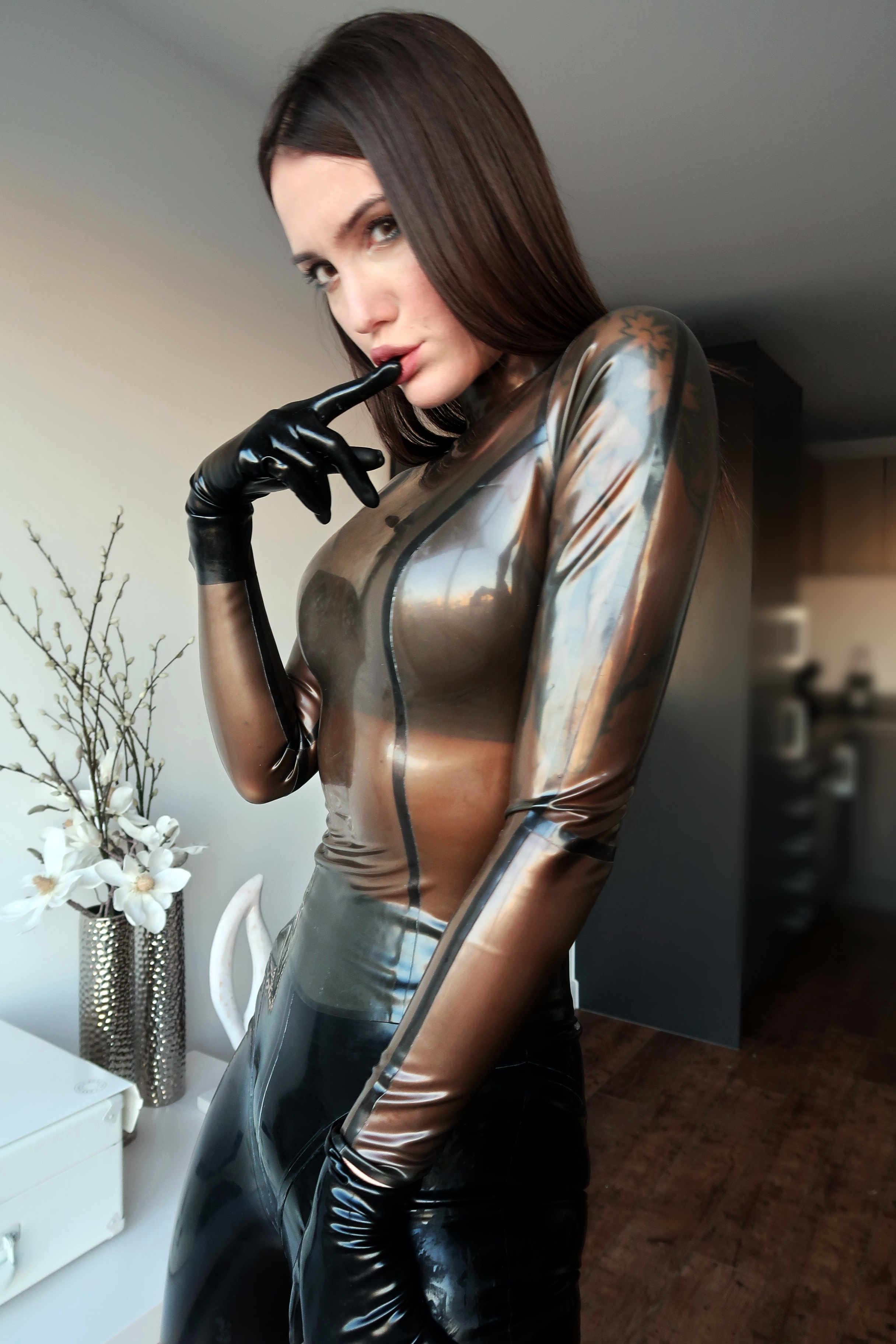 dominatrix gets paid for men to clean her flat