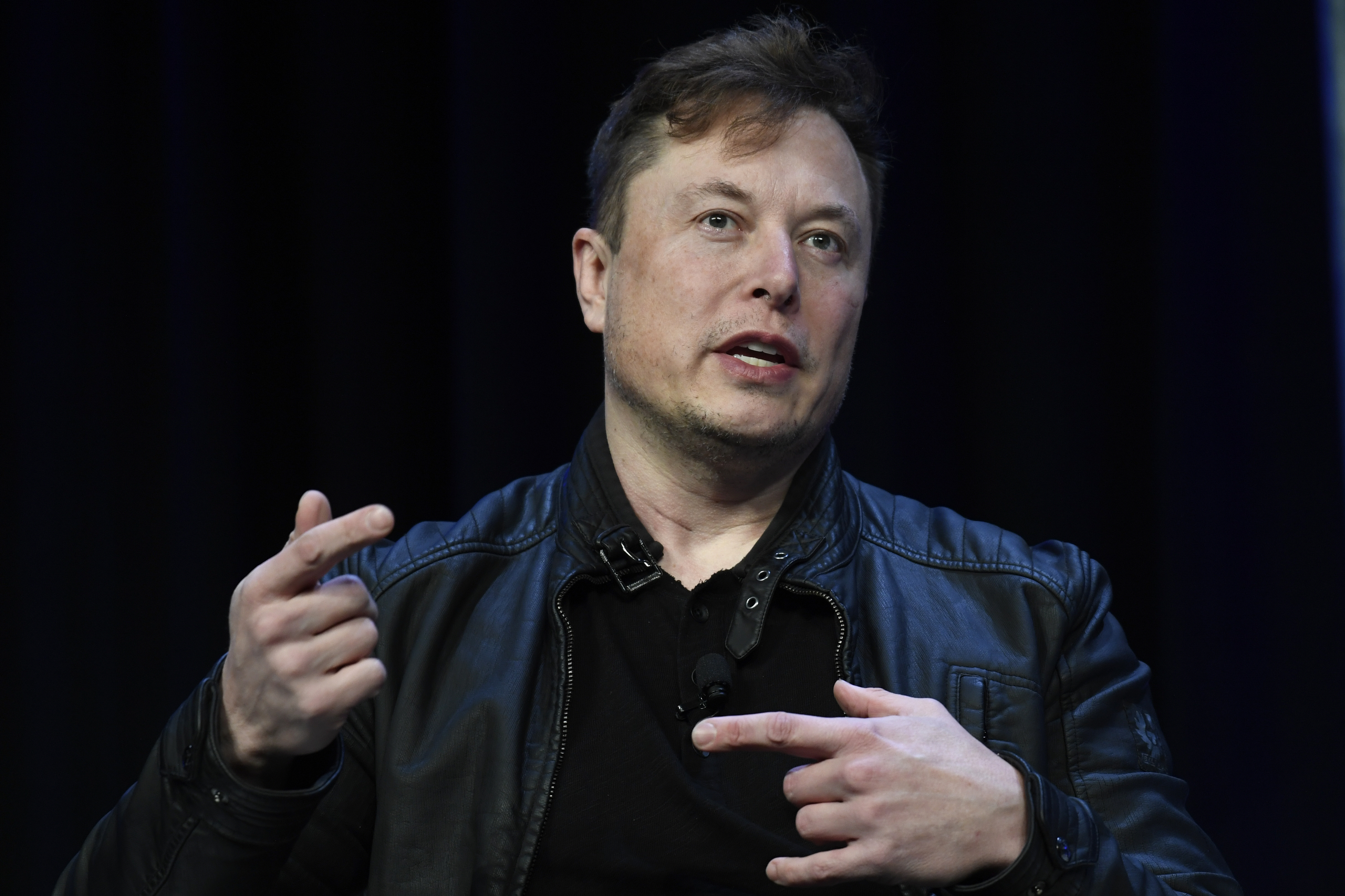 Elon Musk speaks at the SATELLITE Conference and Exhibition