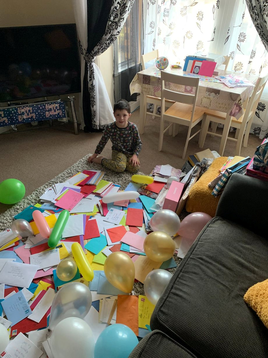 Dylan James turned 9 years old on Thursday - and received birthday cards from all over the world.