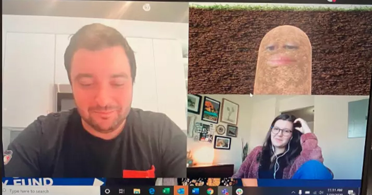 boss accidentally turns herself into potato on zoom meeting 1