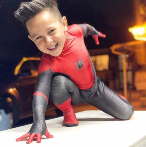 4-year-old dressed as Spider-Man