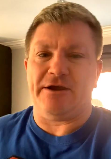 Ricky Hatton making video from self-isolation