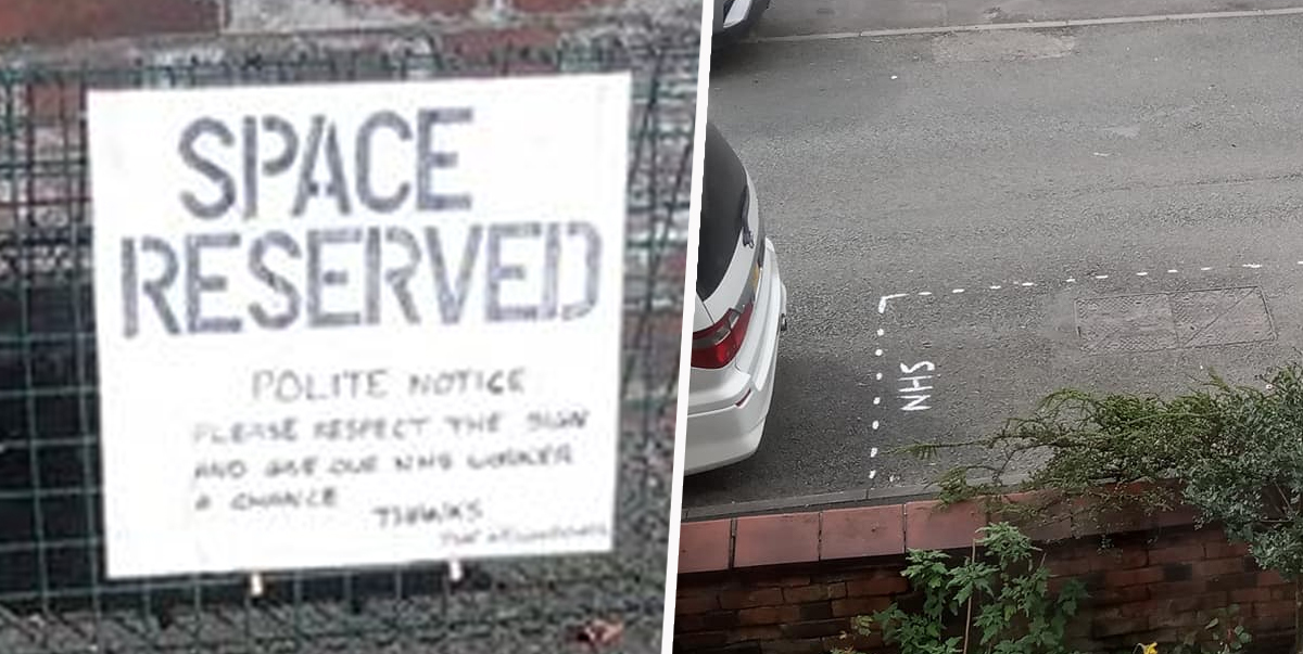 Neighbourhood Surprises Healthcare Worker With Parking Space In Front Of House
