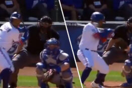 willie calhoun hospitalised after 95mph fastball hits his face