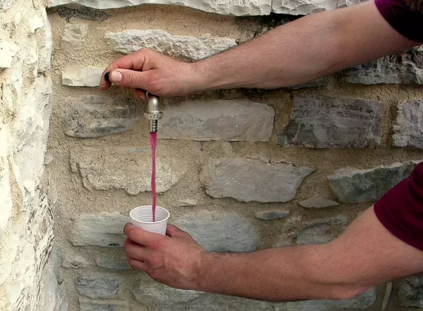 Water Taps Pour Wine In Italian Village After Fault At Local Winery