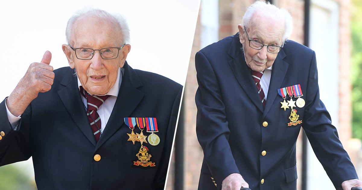 Captain Tom Moore Has Raised £25 Million For The NHS On His 100th Birthday Walk