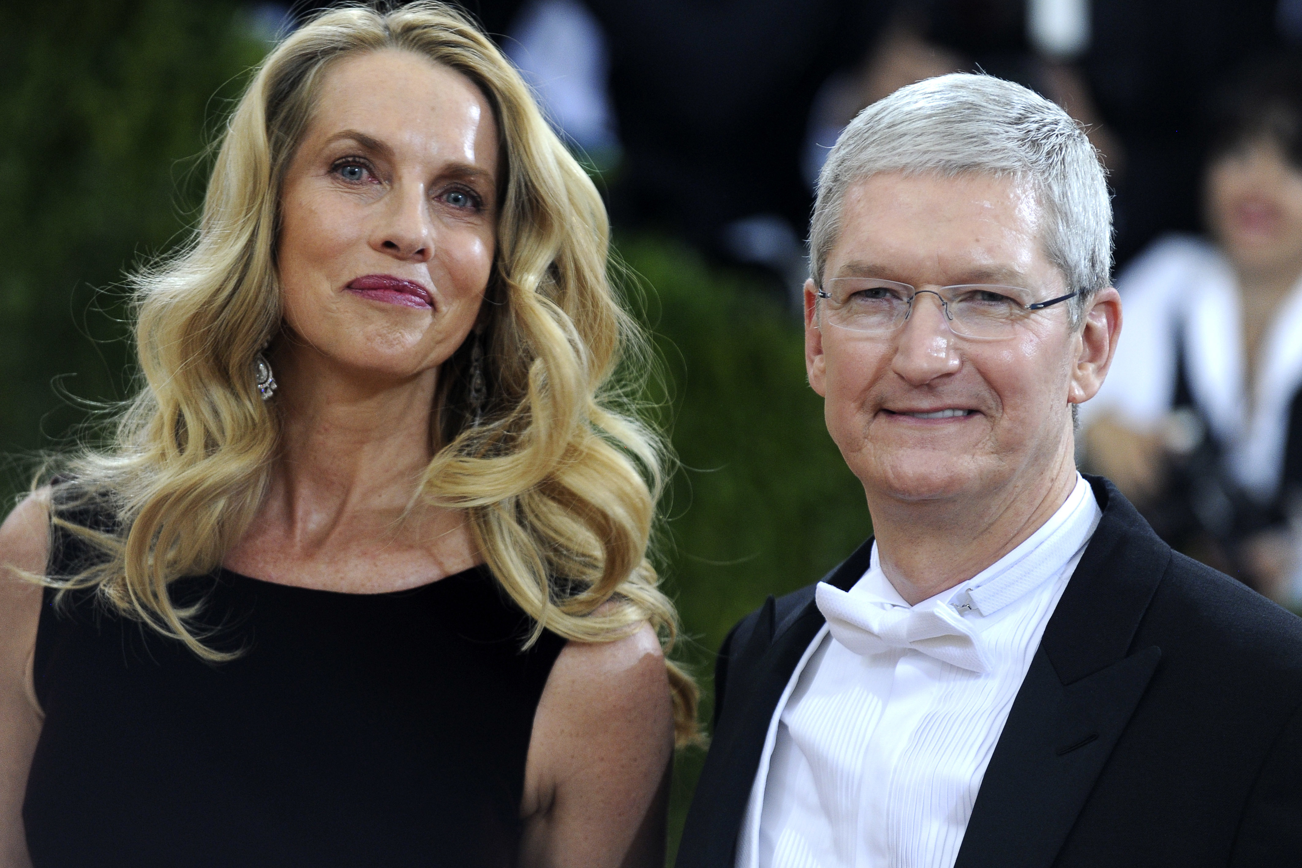 Laurene Powell-Jobs and Apple CEO Tim Cook