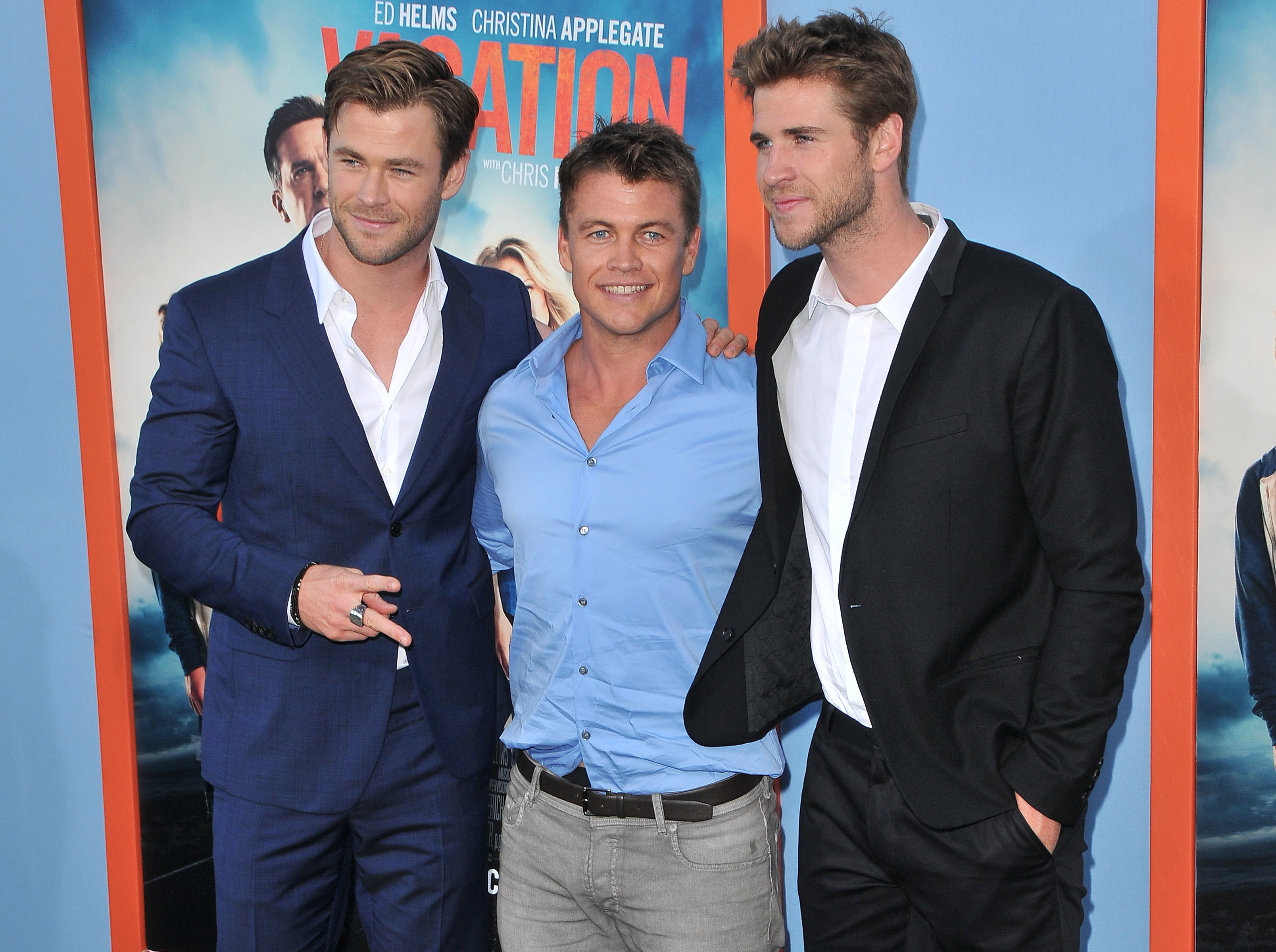 Chris Hemsworth, Luke Hemsworth and Liam Hemsworth