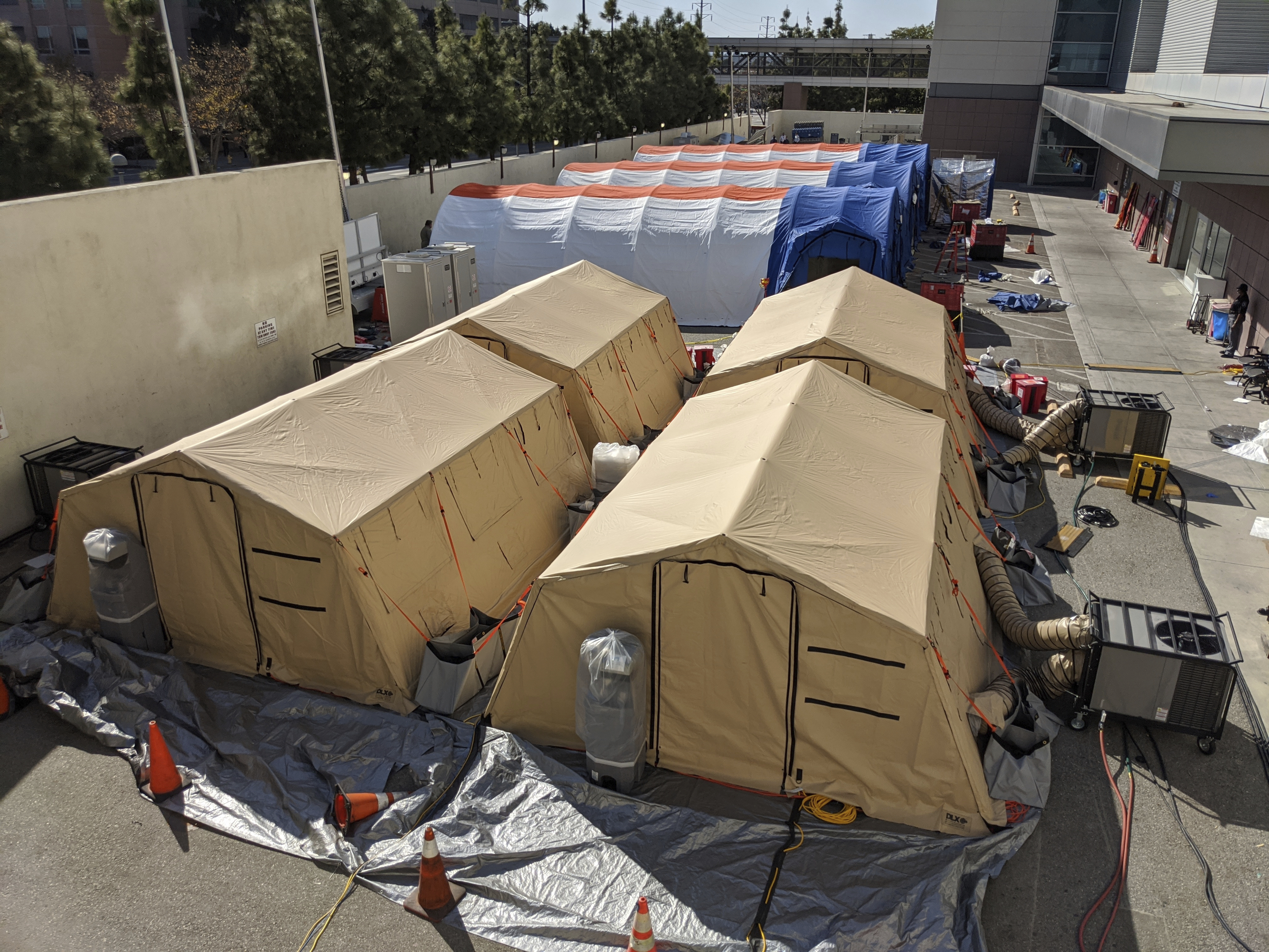 Triage tents for coronavirus patients