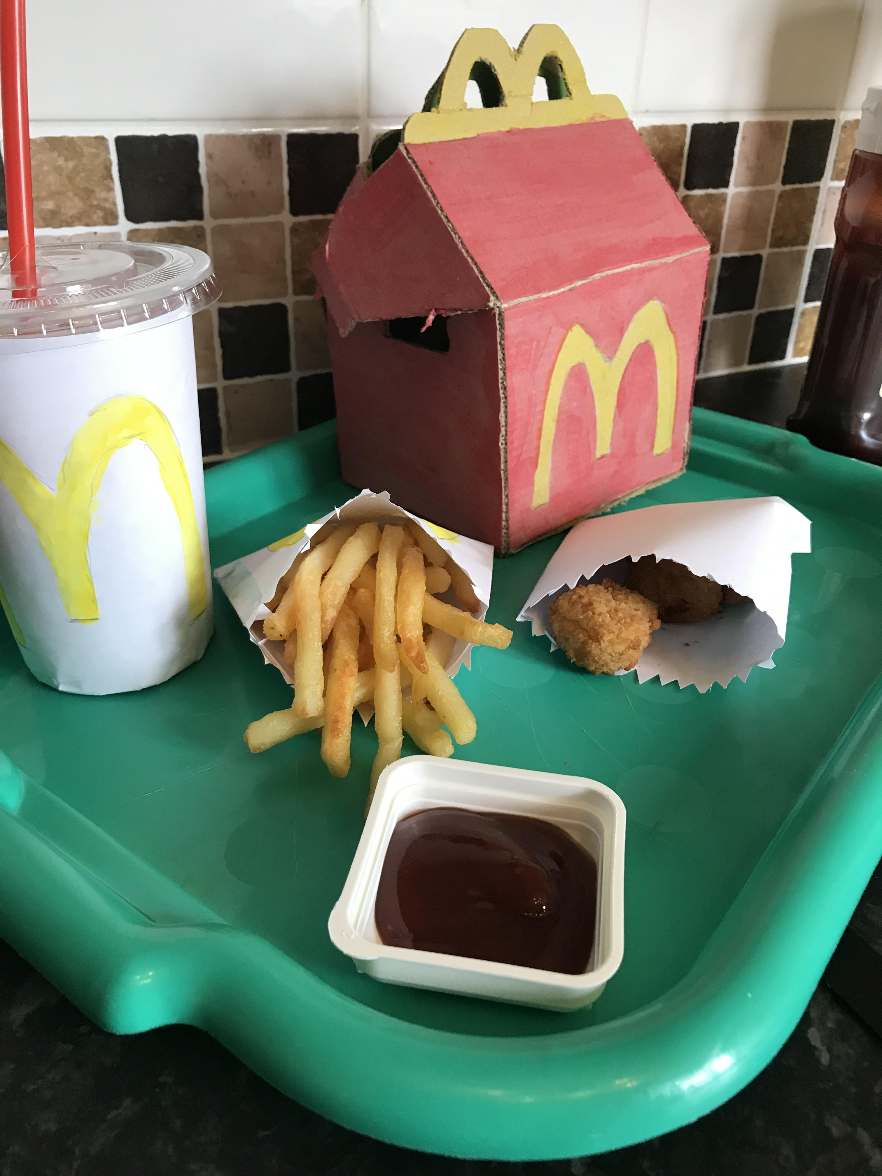 Family Recreates McDonald's Happy Meal For Son During Isolation