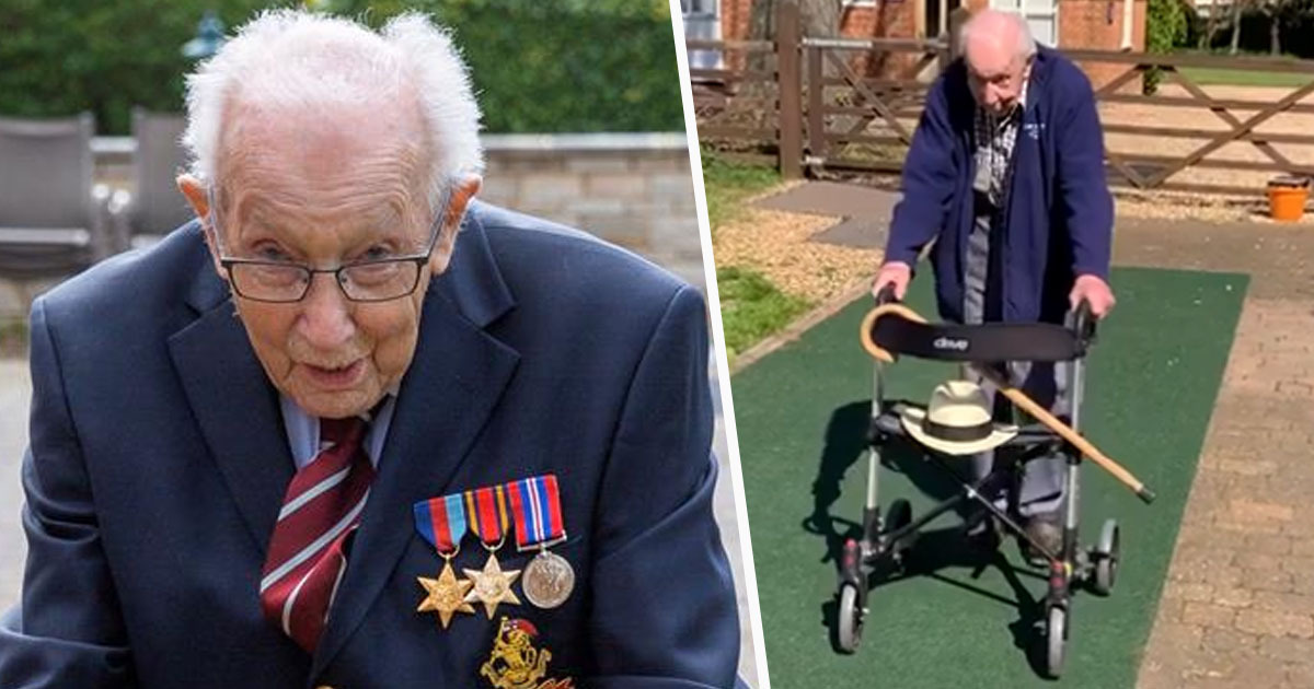 Captain Tom Moore Just Raised £10 Million For NHS By Walking Length Of His Garden