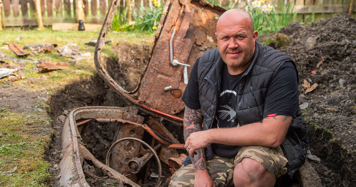 Yorkshire Man Finds Classic Car Buried In Back Garden