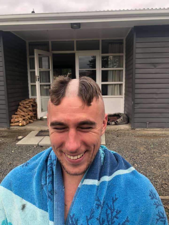 guy shaves nhs into hair