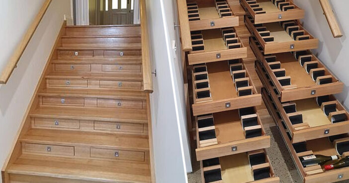 Wine cellar staircase