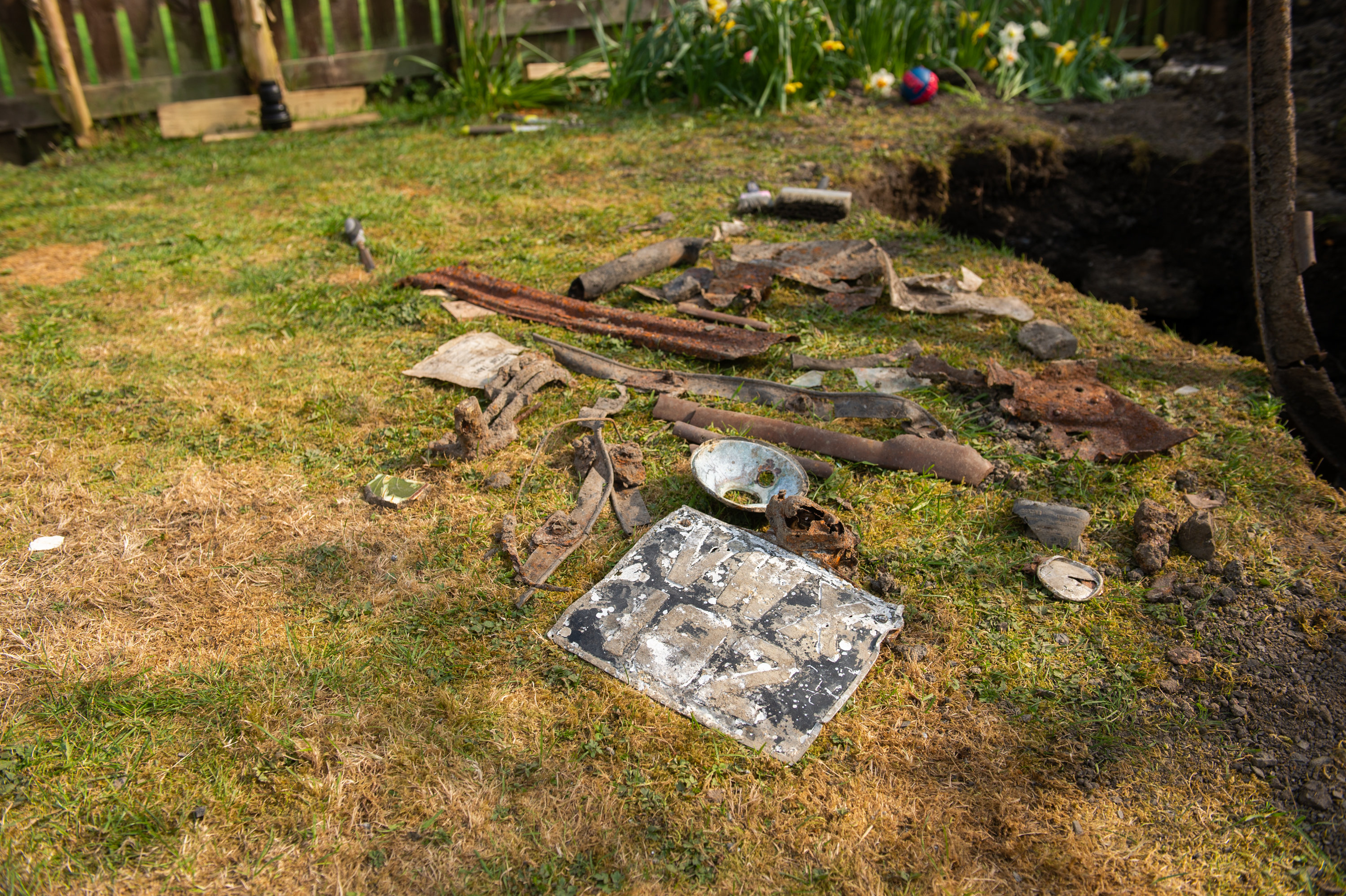 Pieces of old car found in back garden