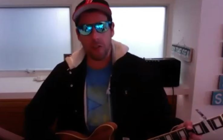 Adam Sandler performs song for doctors and nurses