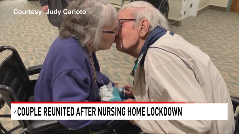 Couple Reunited After Coronavirus Restrictions 2