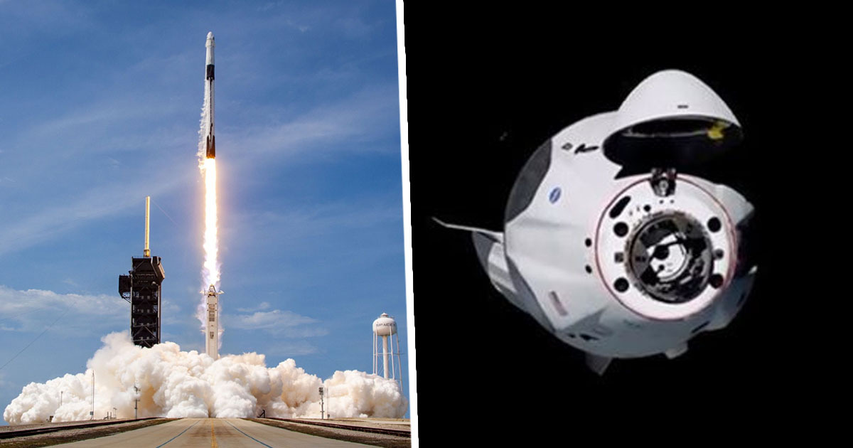 SpaceX Rocketship Carrying Astronauts Successfully Docks At Space Station