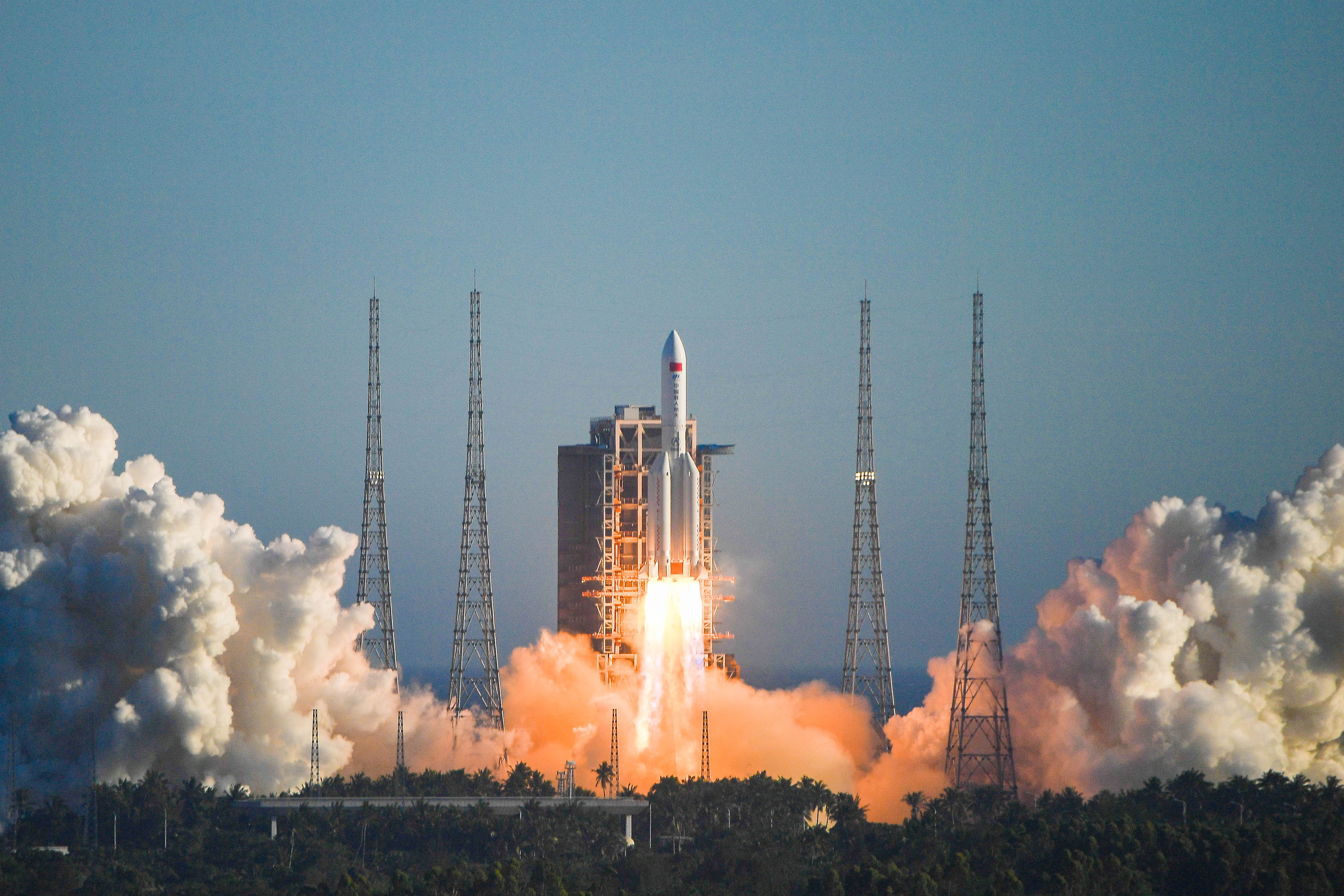 Launch of rocket which fell back to Earth