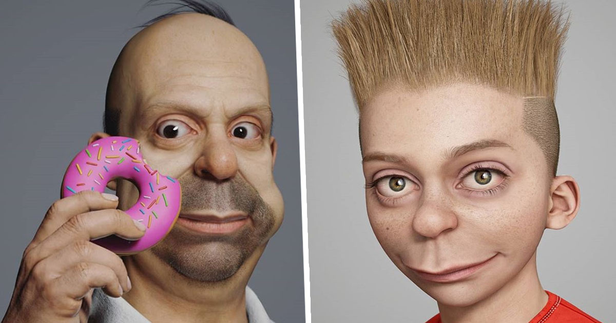 Turkish Artist Hossein Diba Turns Simpsons Characters Into Real People And It's Slightly Terrifying