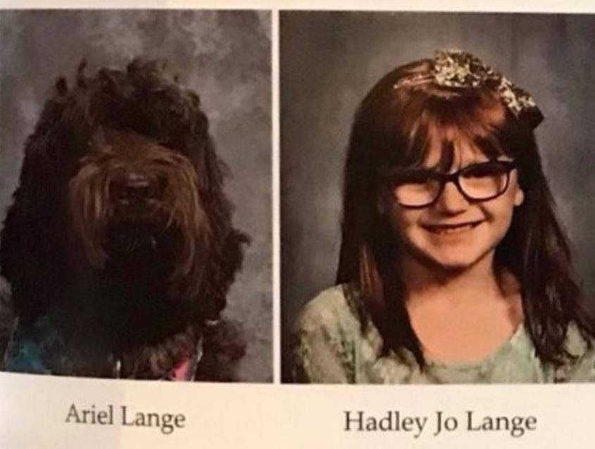 School Surprised Little Girl By Including Photo Of Her Service Dog In Yearbook