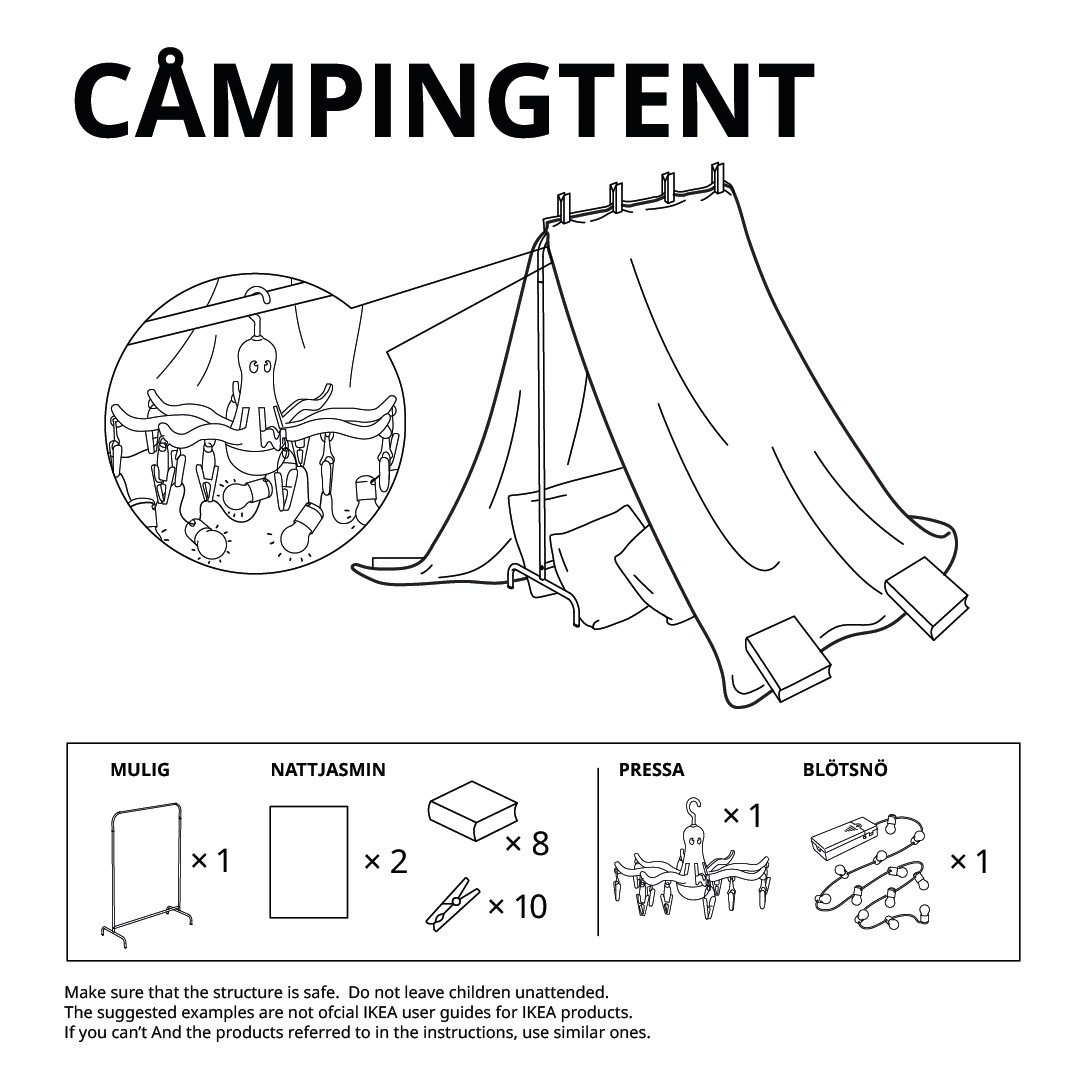 camping tent ikea fort