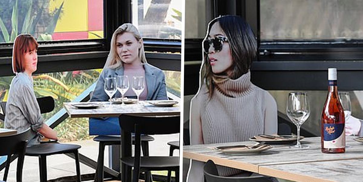 Restaurant Owner Introduces 'Cardboard Customers' To Make Social Distancing A Bit More Fun