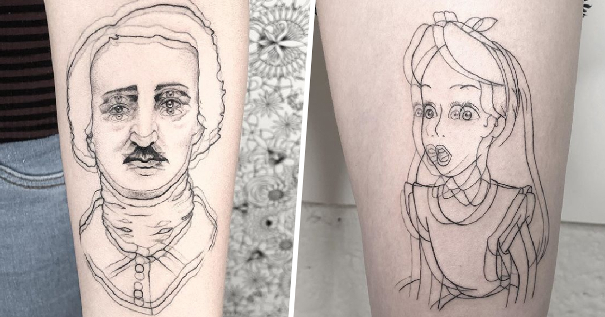 Tattoo Artist 'Feels Good' Making People Dizzy With Her Double-Vision Ink