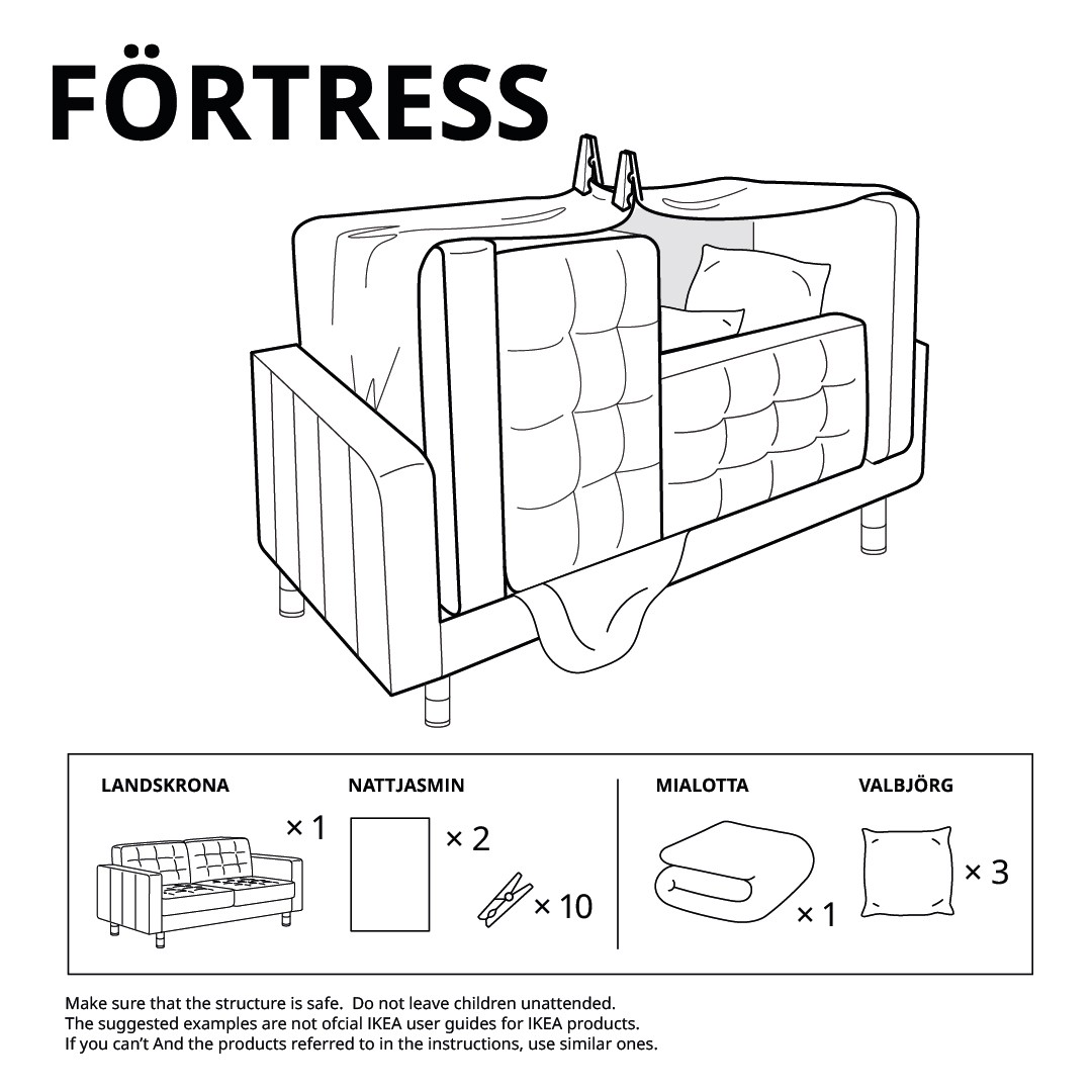 fortress ikea fort