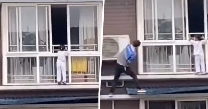 Man Scales Side Of Building With His Bare Hands To Save Five-Year-Old