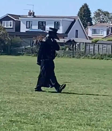 Police Hunting Man Seen Creeping Round Village In Plague Doctor Outfit